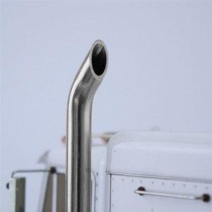 Image 5 - 1 pair Exhaust Pipes RC Model DIY For TAMIYA American King Truck Exhaust Pipe Metal Car Accessaries