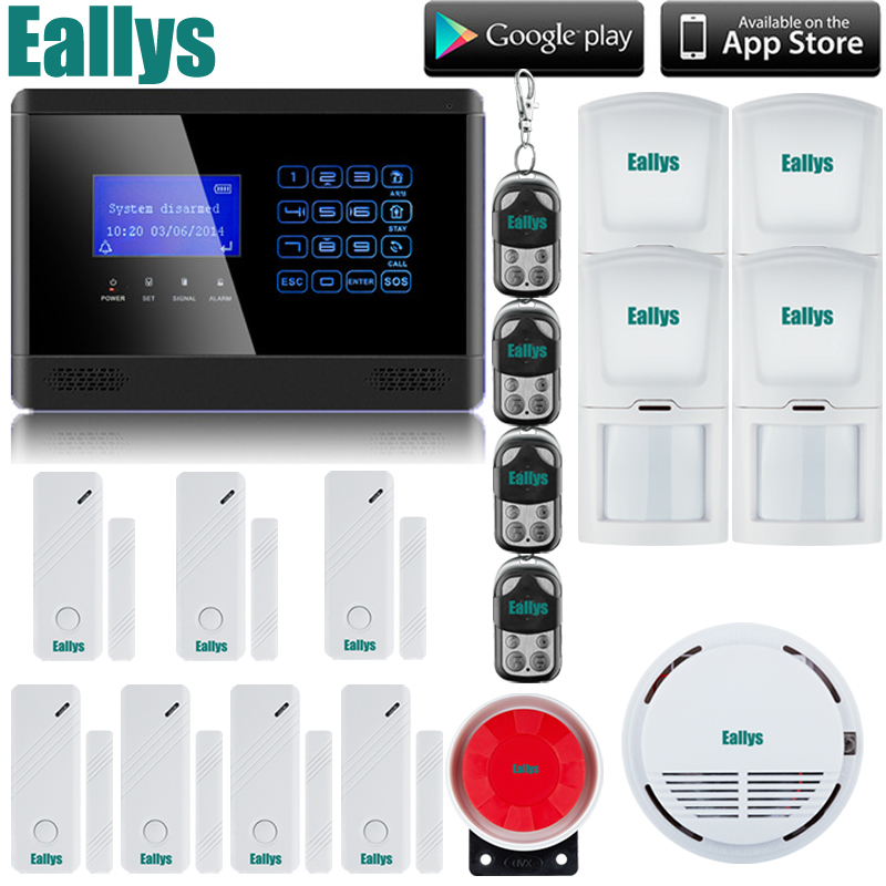Wireless GSM SMS TEXT Touch Keypad Home House Alarm System Emergency Panic 850/900/1800/1900MHz Free Shipping+smoke sensor free shipping lcd dispaly home wireless gsm alarm system 850 900 1800 1900mhz