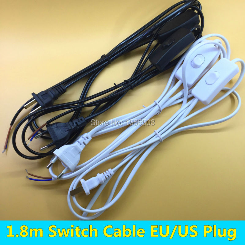 5 piece 18m switch wire eu us plug white black pvc cable led lamp 5 piece 18m switch wire eu us plug white black pvc cable led lamp on line on off switching cord for desk table lamp lighting in switches from lights greentooth Gallery