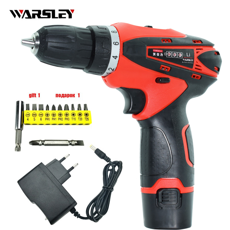12V electric Screwdriver Batteries Drill Cordless power tools Mini battery Drill packs for cordless drill Two-speed drill