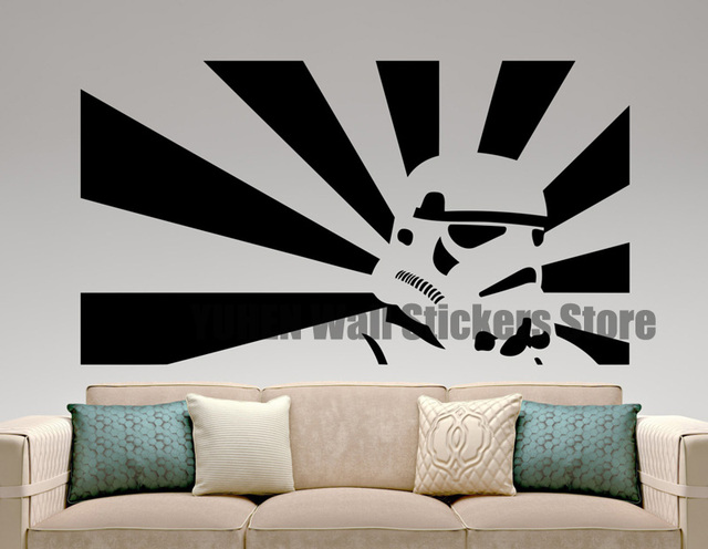 Stormtrooper Sticker Star Wars Wall Decal Movie Design Art Decoration Mural Bedroom  Wall Decor Home Interior Part 14