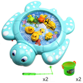 Funny Children's Electric Fishing Toys Multi-functional Rotating Magnetic Fishing Puzzles Turtle Duck Fish Baby Kids Game Gifts