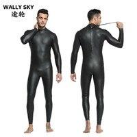 3 мм Для Мужчин's CR Триатлон гидрокостюм Черный цельный всего тела с длинным рукавом Дайвинг костюм Мужской Surf Плавание теплые Smoothskin гидроко