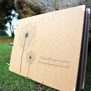 Album de bricolage 10 pouces série de pissenlit album de bricolage bricolage à la main Albums Photo pour amant bébé autocollants de mariage Scrapbooking 10 Pages