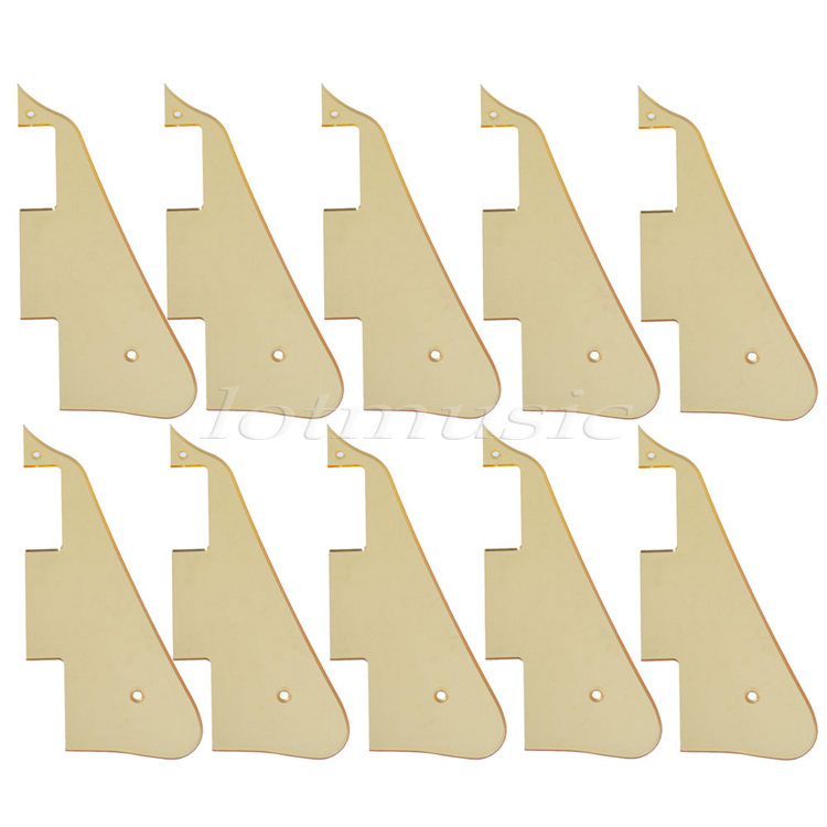 10Pcs Electric Guitar Pickguard Gold Mirror For Electric Guitar Replacement musiclily 3ply pvc outline pickguard for fenderstrat st guitar custom