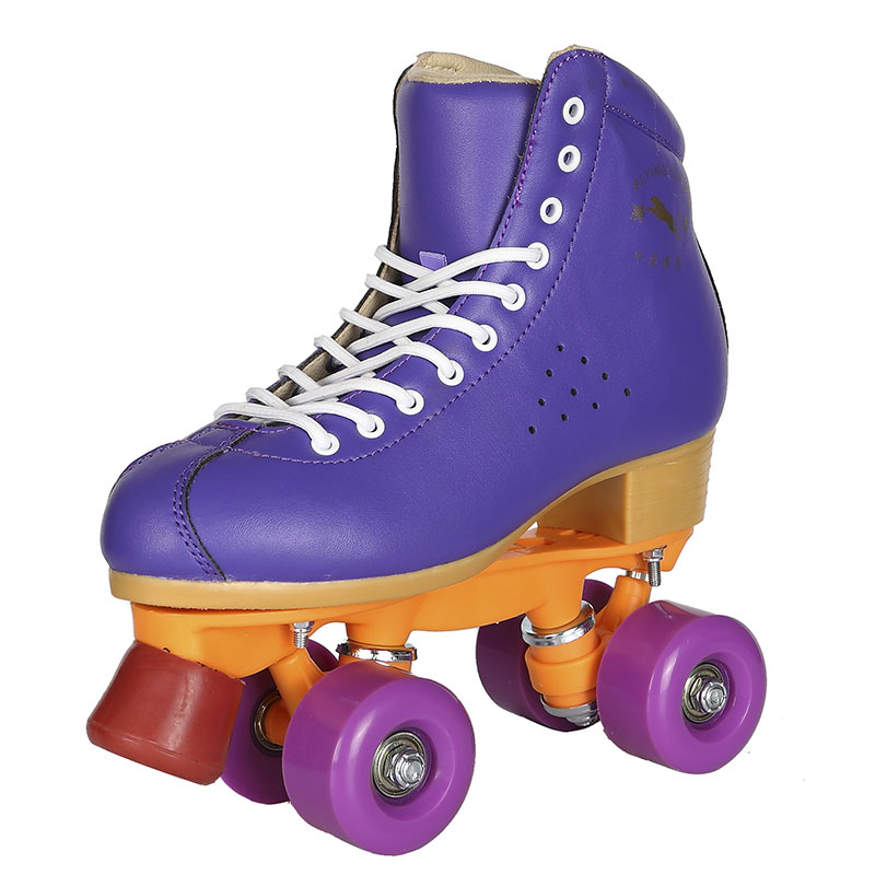 High Quality Leather Roller Skates Shoes Double Lines 4 PU Wheels Quad Skates Skating Boots Sneakers free shipping 8pcs high quality double skate wheels double wheel roller skates pu wheels