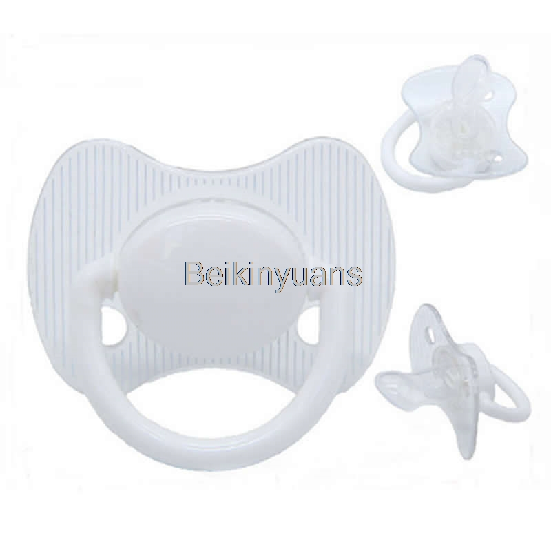 Infant Silicone Baby Pacifier Nipple Baby Pacifiers Dummy Newborn Soother Toddler Holder Pacifiers White Pink Nipple Soother