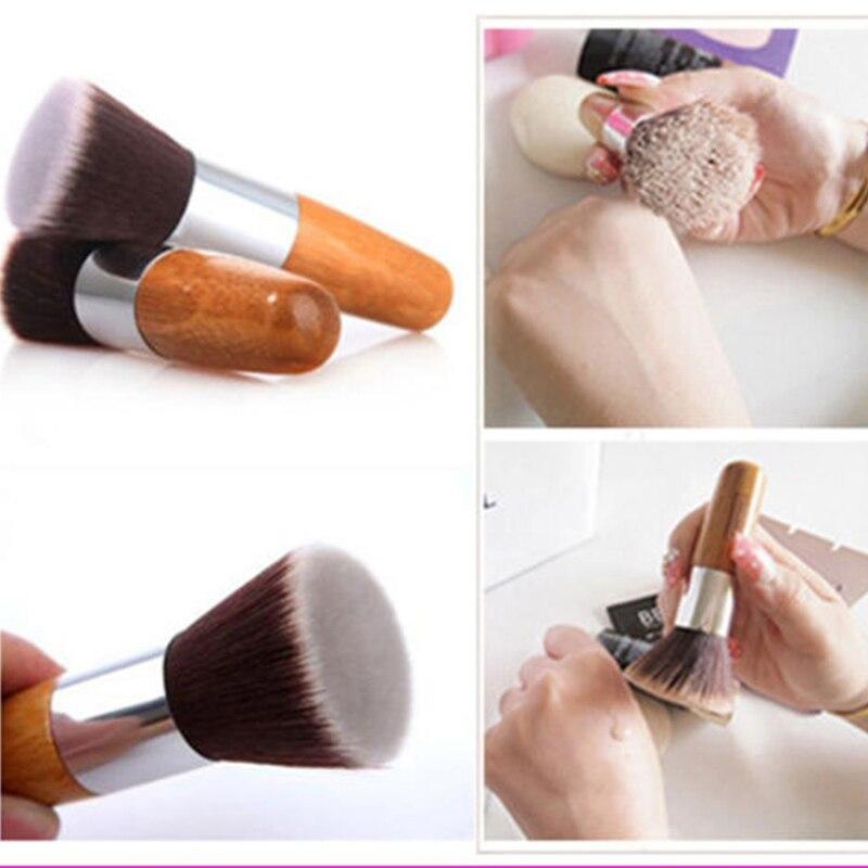 Professional Makeup Brush Flat Top Brush Foundation Powder Beauty Brush Cosmetic Make Up BrushesTool Wooden Kabuki Make-up Brush