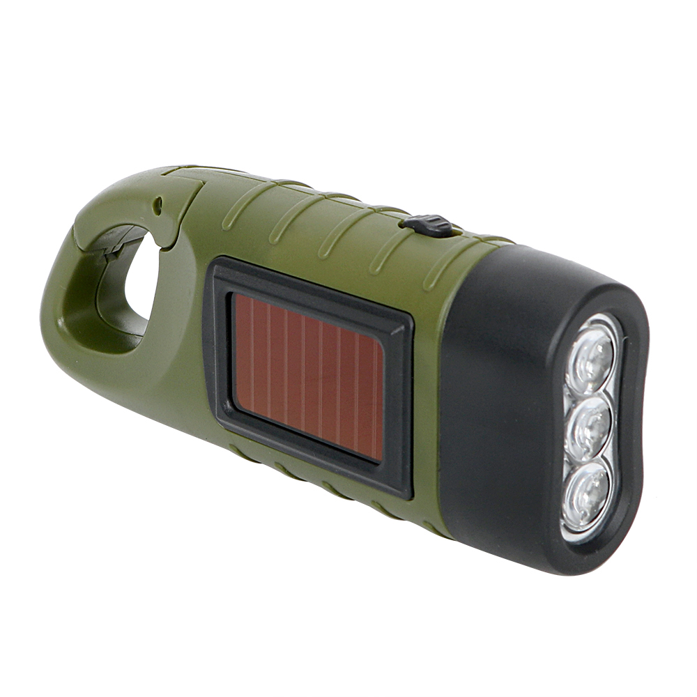 Portable Solar Power Torch Lantern for Outdoor Camping Mountaineering  Tent Light Hand Crank Dynamo LED Flashlight Professional large flashlight solar charging camping lantern camping lantern portable lamp outdoor lighting emergency power old man lamp
