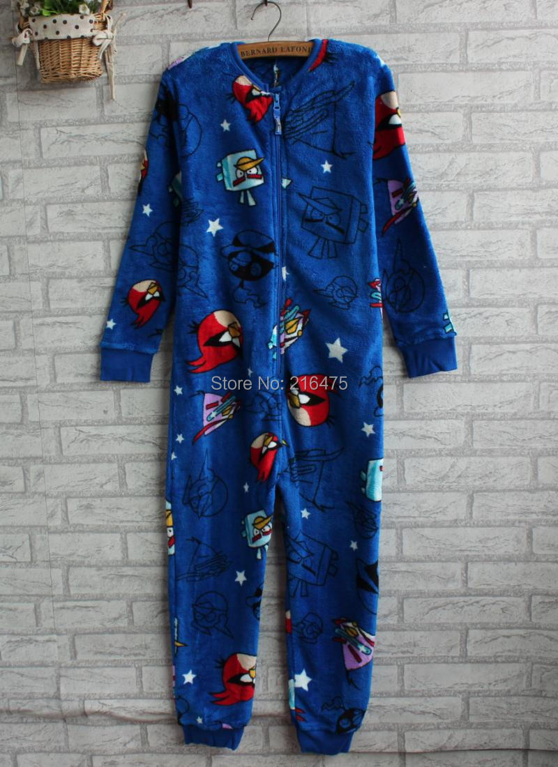 5257c220e kids bird blue pajamas children Autumn onesie  Jumpsuit 3 10 years wear en  Pijamas de Mamá y bebé en AliExpress.com