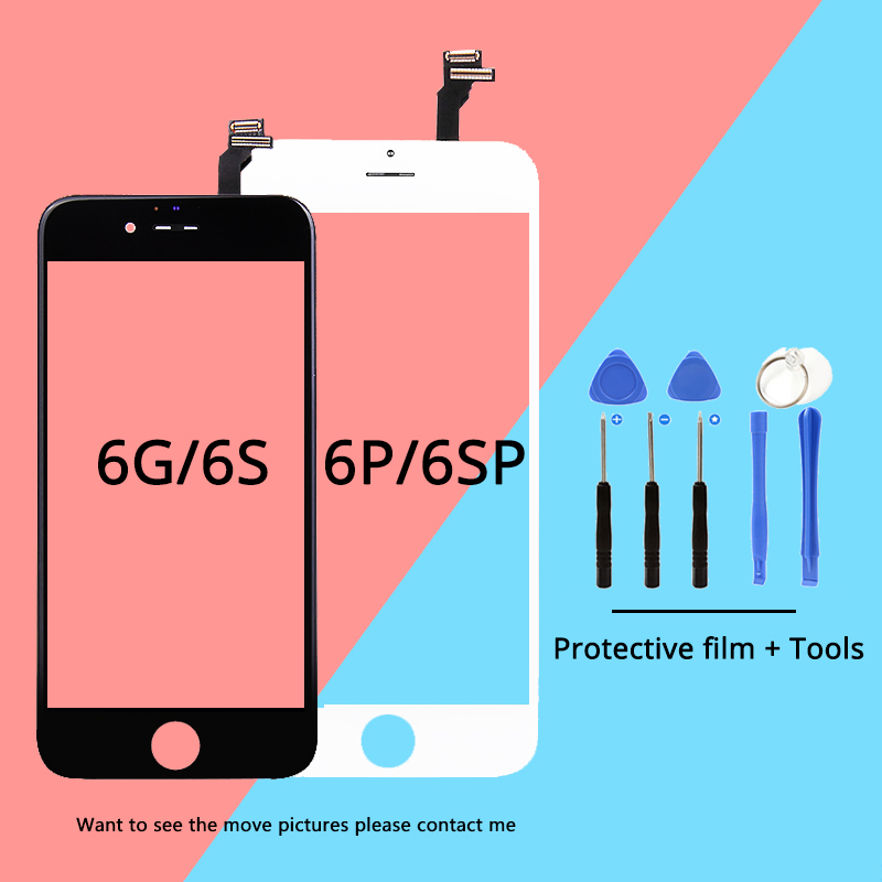 TOP Grade AAA Screen For iPhone 6/6S/6P/6S Plus LCD Display Replacement Lens Pantalla Touch Digitizer Assembly black white