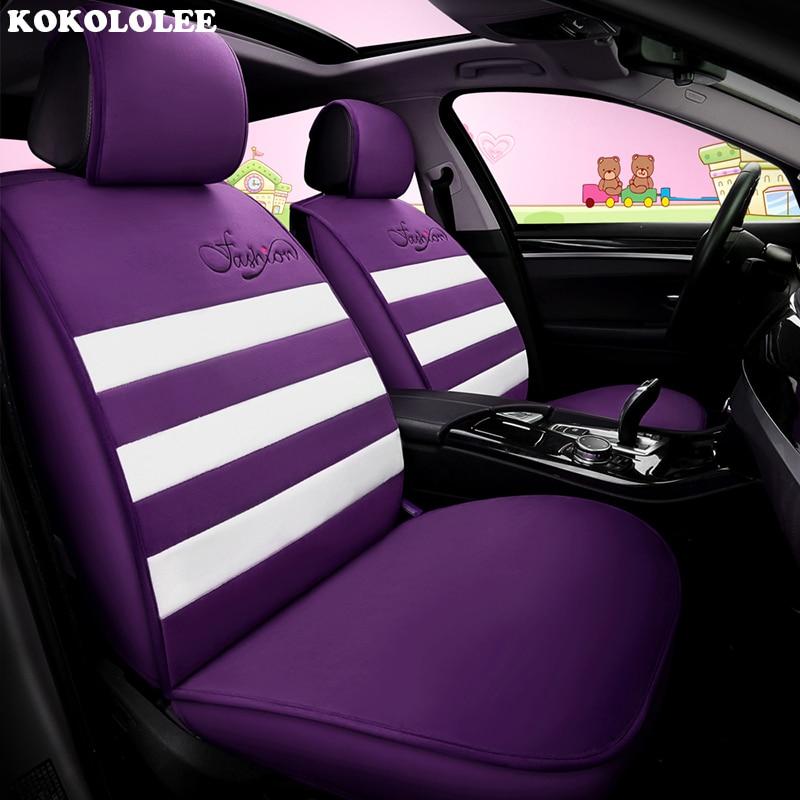 KOKOLOLEE car seat covers for toyota rav4 corolla verso auris chr prius avensis land cruiser prado 120 vitz covers for vehicle