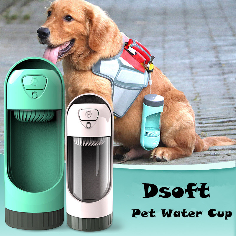 Portable Pet Dog Water Bottle Travel Puppy Cat Drinking Bowl Outdoor Dispenser Travel Dog Bowl Adjustable Pets Drinking Bottle