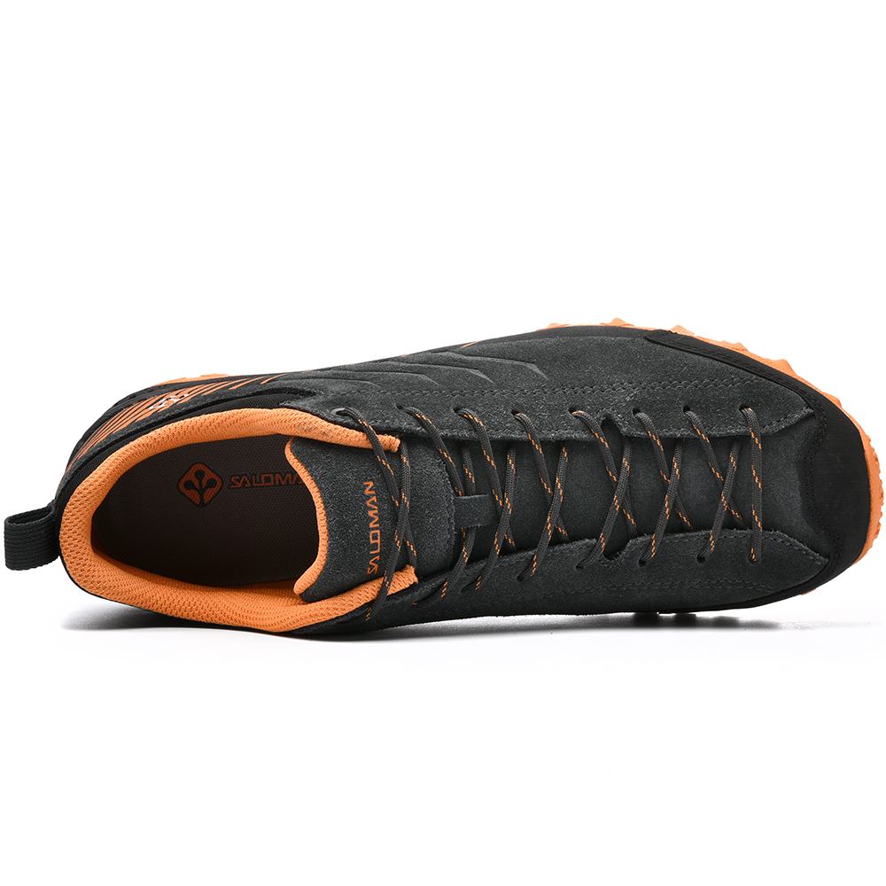 Image 5 - SALAMAN Mens Fur Leather Outdoor Hiking Camping Shoes Sneakers 