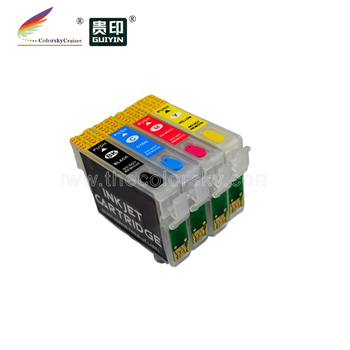 (RCE1351) refillable refill ink cartridge for Epson T1351 - T1334 T135 T133 BKCMY Stylus T25 TX123 TX125 TX135 TX133 free DHL