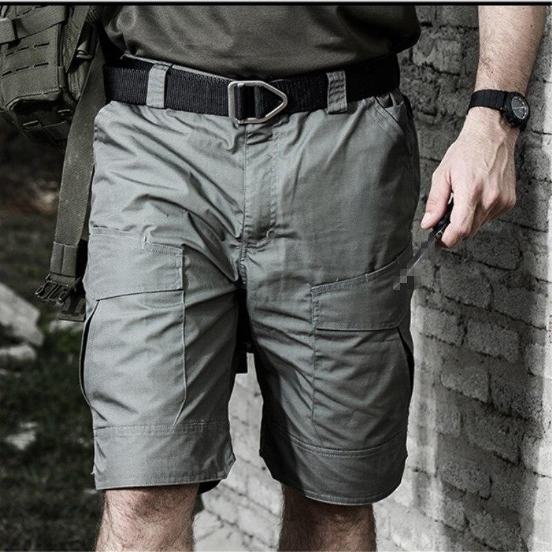 Hommes militaire tactique Cargo Shorts téflon imperméable Camouflage extérieur Camping escalade randonnée chasse Trekking homme pantalon