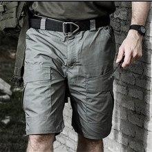 Мужские военные тактические шорты с накладными карманами тефлоновые Водонепроницаемые камуфляжные походные альпинистские походные охота, треккинг мужские брюки
