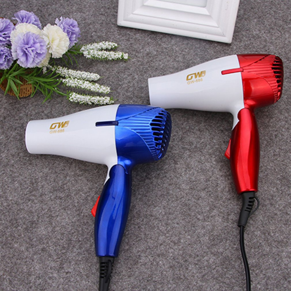 GW-686 1Pc Mini Portable Hair Dryer Folding Foldable Compact Traveller Blower Low Power School Students Air Blower