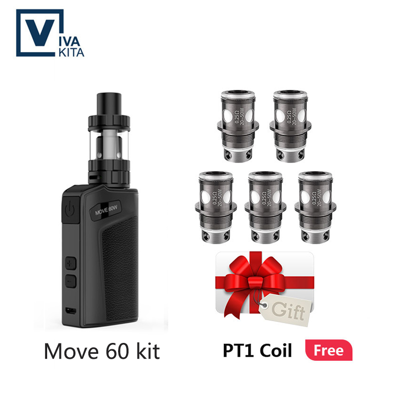 Vivakita Vaporizer Vape Move 60 KIT Electronic Cigarette 2100mAh Built In Battery 60W Vape 2.0ml Atomizer Fits510 Thread Box Mod
