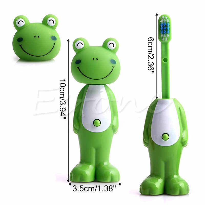1 PC Cartoon ילדים מברשת שיניים לילדים רכים זיפי טלסקופי שן ברוס פה נקי באיכות גבוהה
