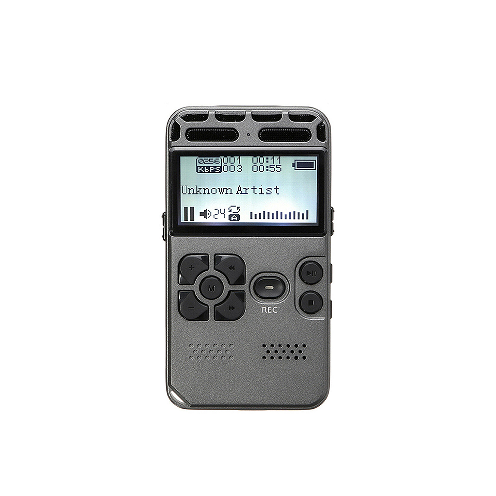 Enregistreur vocal numérique enregistrement Audio Dictaphone MP3 LED affichage vocal activé 8 GB mémoire OEM1536kbps réduction du bruit