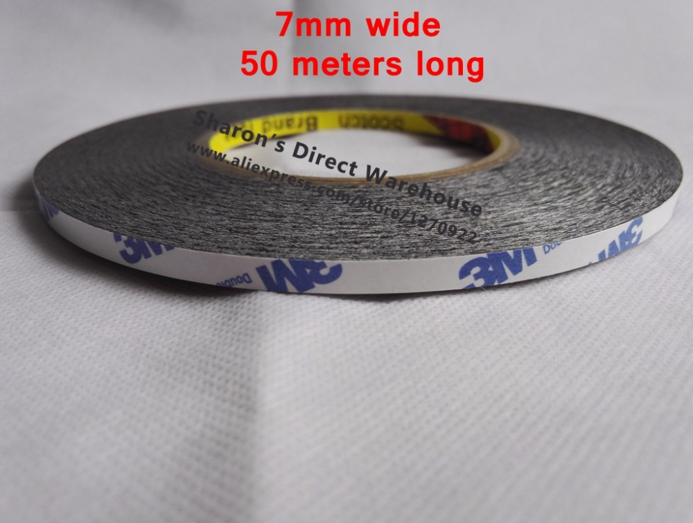 7mm*50M Double Sided Adhesive Tissue Tape, for phone Screen Repair, Foam Bond 25mm x 10m super strong double sided adhesive tape for repair touch screen phone