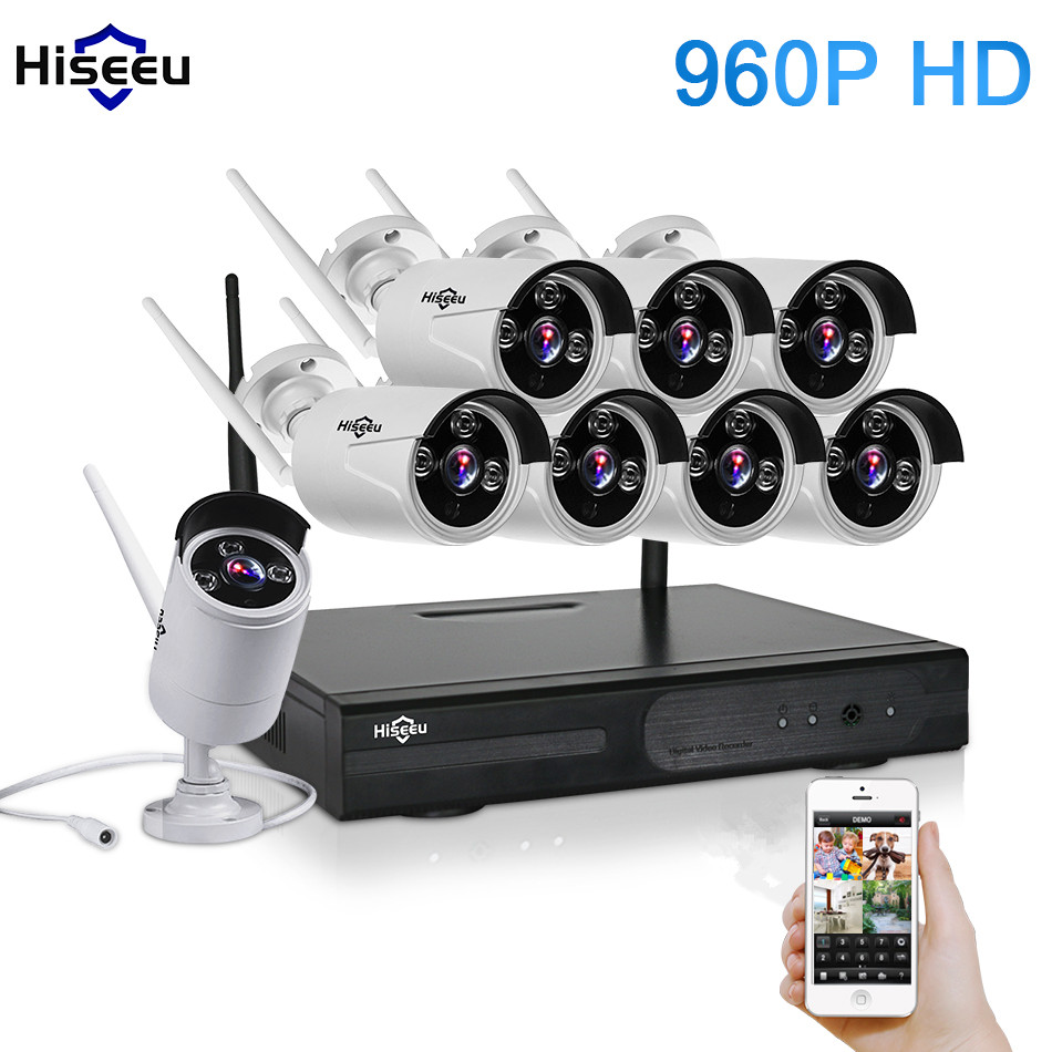 CCTV System 960P 8CH HD Wireless NVR KIT Outdoor IR Night Vision Home Security System Surveillance IP Camera Wifi Camera Kit 42 free shipping 700tvl 8ch hd ir cctv security camera system security outdoor waterproof camera security surveillance system kit