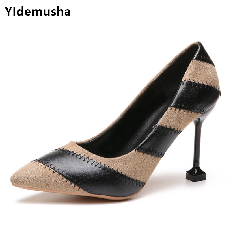 2019 Brand Shoes Woman High Heels Pumps Nude High Heels -5534