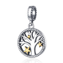 Hot sale 100% 925 Sterling Silver Tree of Life Pendant Charm fit Pandora Bracelets Necklaces DIY Jewelry Making for Women gift(China)