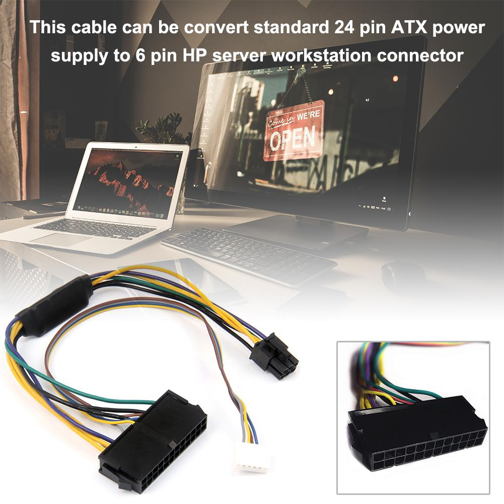 Conversion Cable Power Adapter For HP Elite 8100 8200 8300 800G1 ATX 24-pin To 6P