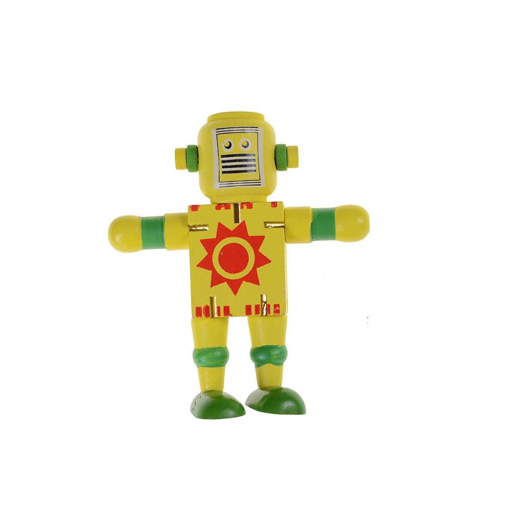 1 шт. Монтессори Деревянный робот-трансформер строительные блоки детские игрушки для детей развивающие Обучающие интеллектуальные подарки