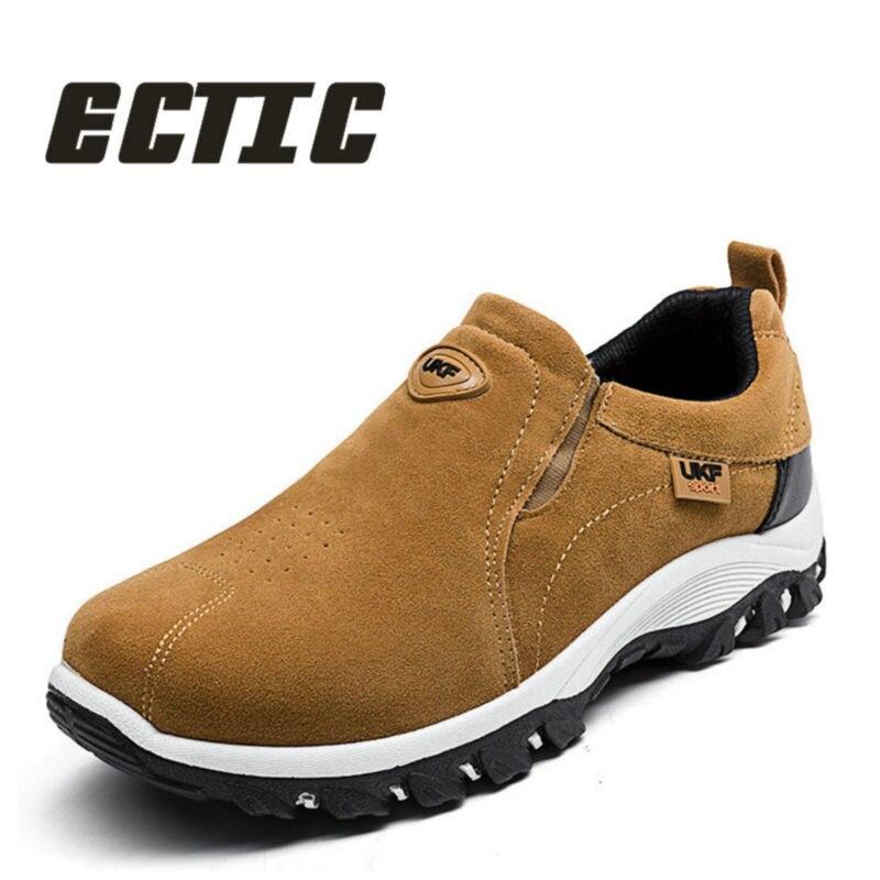 ECTIC 2018 дышащая Новая удобная Для мужчин повседневная модная обувь износостойкой кроссовки обувь мягкие кожаные туфли Весна CC-091
