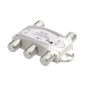 4 in 1 4 x 1 DiSEqc 4-way Wideband Switch DS-04C High Isolation Connect 4 Satellite Dishes 4 LNB For Satellite Receiver