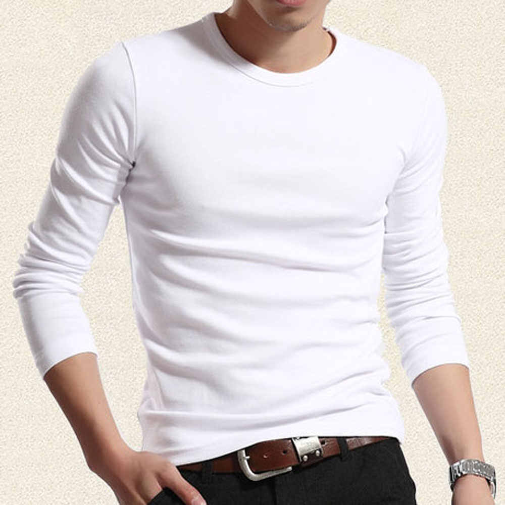 4a72c6dc65a55 ... 2019 Special Sales New Arrival Casual O Neck Long Sleeve Fitness Men s  tshirts Fashion elastic cotton ...
