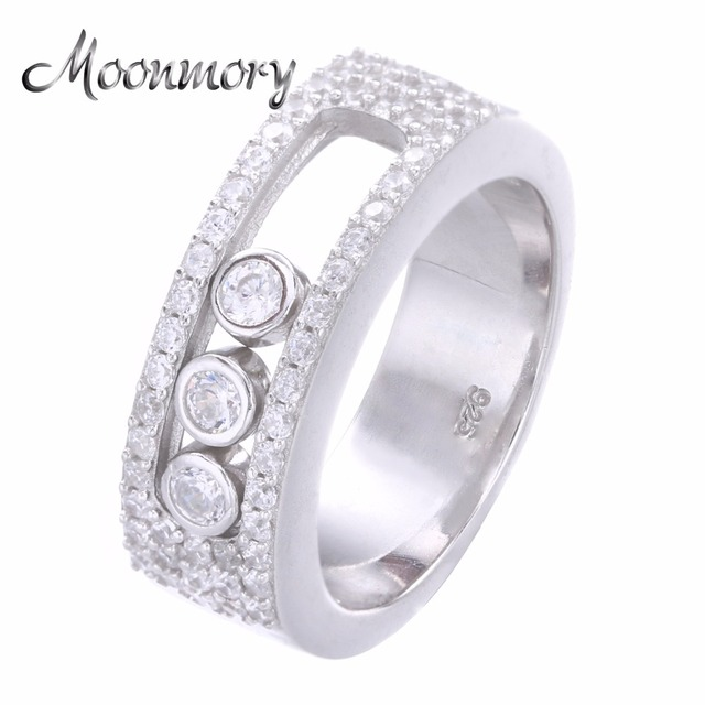 Moonmory Jewellery Moveable Stone Wedding Ring For Women France Hot