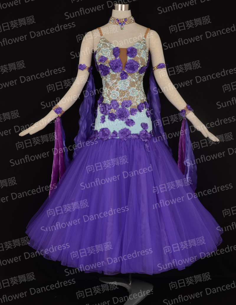2016 New Competition ballroom Standard dance dress,dance clothing,stage wear,ballom dance wear,Ballroom Dance Dress,lace