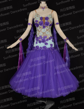 2016 New Competition ballroom Standard dance dress,dance clothing,stage wear,ballom dance wear,Ballroom Dance Dress,Purple