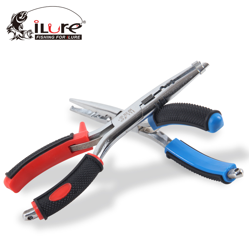 Ilure Fishing Scissors Tongs 18cm/80g Stainless Steel Medium-Sized Line Cutter Scissors Grip Hooks Split Rings Sleeves Tackle