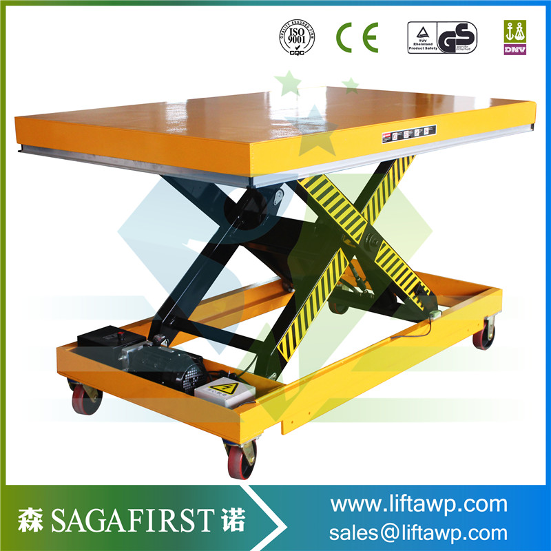 1m-3m Electric Portable Scissor Lift Table With CE ISO