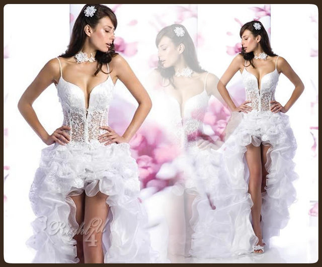 Sexy Short Corset Wedding Dress