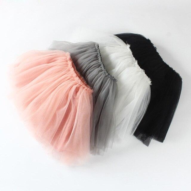 2016 девочка Pettiskirts чистой вуаль юбки дети милые принцесса одежду подарок на день рождения малыша бальное платье ну вечеринку каваи туту юбки
