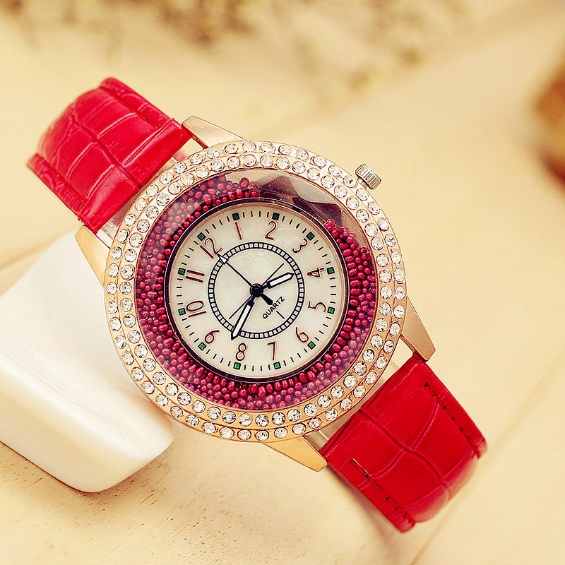 Fashion Ladies Luxury Brand Watch Crystal Diamond Leather Watch Women Rhinestone Ball Quartz Wrist Watches For Gift Montre Femme ladies fashion brand quartz watch women rhinestone pu leather casual dress wrist watches crystal relojes mujer 2016 montre femme