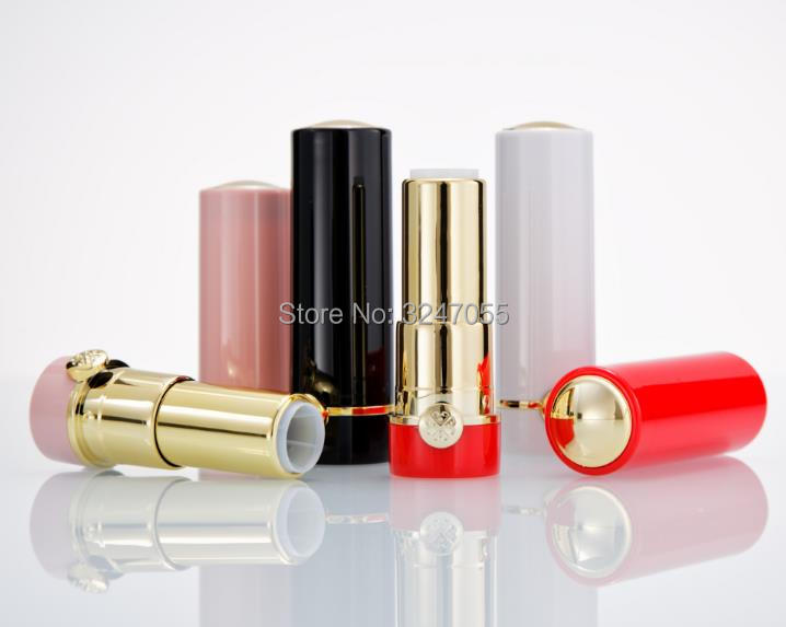 12.1mm Plastic Pink/Black/Red/White Elegant Empty Lipstick Tube, Round Beauty Makeup Lip Rouge Container,Lip Balm Storage Bottle 12 1mm 50pcs new arrival empty pink lipstick tube high quality plastic diamond lipstick container cylindric lip balm container