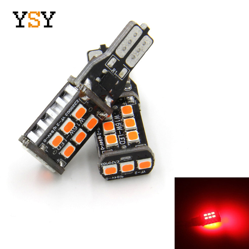 2x <font><b>T15</b></font> 15 SMD 2835 W16W <font><b>LED</b></font> Canbus No Error <font><b>Car</b></font> Tail Bulb Brake Light Auto Reverse <font><b>Lamp</b></font> 921 <font><b>Led</b></font> Bulb White Amber Red Lighting image