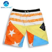 Gailang Brand Men Shorts Beach Quick Drying Beach Shorts Board Wear Men Swimwear Swimsuits Boardshorts Trunks