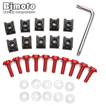 Bjmoto universal Motorcycle Scooters M6 Fairing Bolts Screws For Honda CB600 For BMW F800GS S1000RR Fit Yamaha Kawasaki image