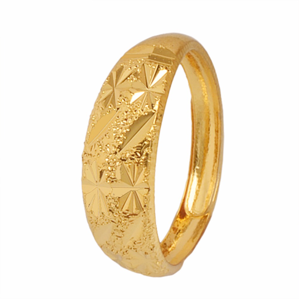 copper base gold color dubai small ring for womens girls