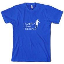 I Came I Saw I Served - Mens T-Shirt - TennisER - Player - Racquet Free shipping Name Print T Shirt Mens Short Sleeve Hot цена