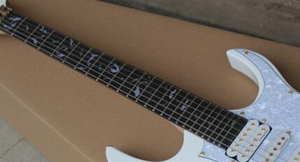 Free shipping in Real photos New Custom white  Electric Guitar 1111 .  high quality electric guitar custom emg 81 85 actieve pickups real photos free shipping