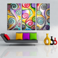 MODERN ABSTRACT HUGE LARGE CANVAS ART OIL PAINTING beautiful abstract phonix tail for decoration framed